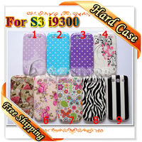 Zebra Covers for i9300 Cases for Samsung Galaxy S3 Flowers Polk Dots Designs Free Shipping