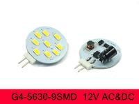Hot Free Shipping AC DC 12V G4 LED Bulb  SMD 5630 9 LED Warm White Light Bulb