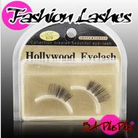 Hot Sale Taiwan Hand Made Natural Long Black Half Section False Eye Eyelashes Lashes Nude Makeup Tools Case