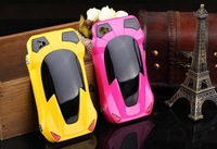 3D Personality Sport Racing Car Design Case for iPhone 4/4s iPhone 5/5s PC Hard Cover for iPhone, Free Shipping