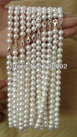 AA++ 9mm round Freshwater Cultured Pearl Necklace 925 sterling silver Clasp