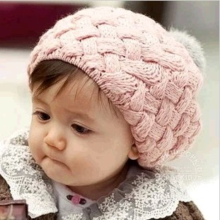 Ear protector cap male baby girl child baby hair balls twisted autumn and winter of rabbit knitted hat(China (Mainland))