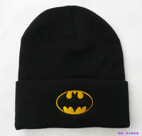 Batman beanie knitted hat fashion hiphop cap autumn and winter cold cap lovers cap cartoon cap