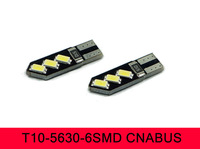 T10 194 W5W 6 SMD 5630 LED Wedge Light Bulb White