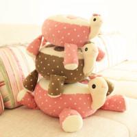 2015 fashion design plush tortoise toy cloth-doll birthday gifts pillow free shipping