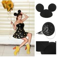 2013 New Fashion 100% Woolen Winter Women Ear hat Mickey Cap Black Hats Fadoras  Free shipping