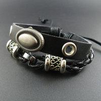2014 new arrival vintage Spike Rivet Charm Men Genuine Wrap Leather Cuff Bracelets & Bangles Jewelry for women 2013 wholesale