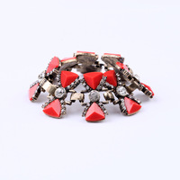Free shipping Fashion Jewelry Retro Female Pop Punk Bracelet Semi-precious Stones, Jewelry Wholesale