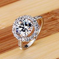 Christmas gift wedding gift 950 nscd jewelry female finger ring  wedding ring ring belt certificate dr0092