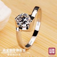2014 Christmas gift wedding gift  nscd jewelry female finger ring ring women's ring wedding ring belt certificate 1206