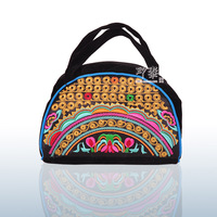 Free Shipping ! new national trend  embroidered coin purse small double faced embroidery handbag multifunctional bag