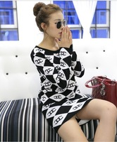2013 new Korean woman slim sleeve head Crewneck sweater coat plus skirts