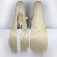 HOT!!GOOD QUALITY! Cosplay wig 100cm beige long straight hair