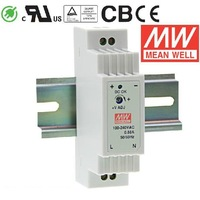 Original MEANWELL MEAN WELL DR-15-5, DR-15-12, DR-15-15, DR-15-24 15W Single Output Industrial DIN Rail Power Supply