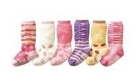 Girls princess heap heap sox high bubble point rubber non-slip bottom W041 baby socks
