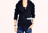 Men New Korea Casual Zip Up Hoodie Sweater Top/Jacket/Coat/Sweatshirt