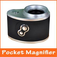 10x LED la luz del bolsillo foco ajustable lupa iluminada microscopio con lámparas y del Detector del dinero valoración de la joyería de la lupa