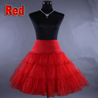 2 Layers Petticoat  Red Lady Girls Underskirt Rockabilly Dance Petticoat Retro Vintage Fancy Net Skirt  Tutu