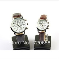 Free shipping ,ROYAL CROWN SSOURE,Italy imports of artificial leather,business and casual watch,Couple Watch