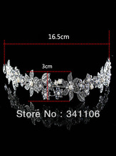 New Design Free Shipping Floral CZ Rhinestone Pearl Bridal Hair Accessories Tiara Hair Combs Wedding Jewelry
