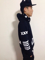 Free Shipping Hipa product autumn and winter hooded sweatshirt pullover HARAJUKU hiphop preyx23 vision