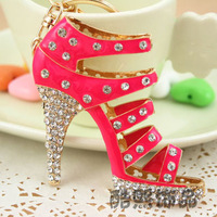 New Arrival  High-heeled Shoe Key Chain Car Key Ring Wholesale Keychain Free Shipping