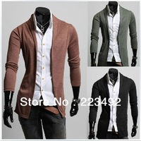 2013 new fashion simple wild Mens Slim casual cardigan sweater Knitwear/cotton cultivation Sweater bottoming cardigan Sweater