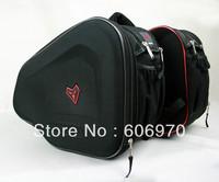 Menat amucks motorcycle bag 2 saddle bag bags  double bag  57L black