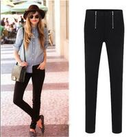 2014 Spring Autumn New Fashion Women's British Style Black White Long Trousers Casual Pencil Pants Plus Size XXL