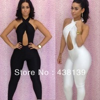 Free shipping New fashion 2013 bandage dress Hollow Out Backless bodycon dress sexy Party women dressesQW1325
