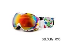 Free Shipping Top-quality Mens & Women Ski Sports Goggles snowboard glasses Male skiing eyewear Mens ski mirror Sunglasses