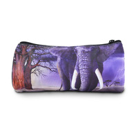 New elephant printed round pencil case for kids creative gifts stationary bags, Bistar Galaxy BBP107P