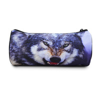 New wolf full printing animal kids pencil case roll strange new products for schools, Bistar Gaxaxy BBP109P