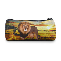 New Lion printed round pencil case bag for kids creative gifts stationary bags, Bistar Gaxaxy BBP111P