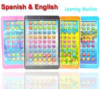 60Pcs/Lot  Spanish + English Language Educational Study Learning Machine Computer Toys For Children Kids Boys Girls