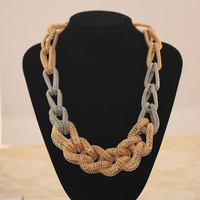 Fashion handmade knitted chain punk women's necklace all-match necklace