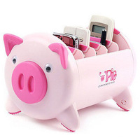 Free shipping Home supplies fashion pig storage box / remote control holder storage box / lovely pig shelf
