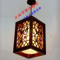 Chinese style antique wooden sheepskin pendant light restaurant lamp study light balcony aisle lights lamps