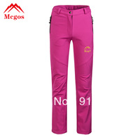 new women's Outdoor sport pants ladies Waterproof climbing A+++ sales fleece fur warm winter outwear blue green red white purple