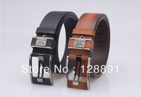 Best Quality First Class real genuine Leather Mens black designer Belt Man Luxury Belts Alloy Buckle 105cm - 125cm
