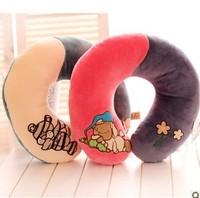 Hwd animal multifunctional plush cartoon u neck pillow cushion