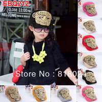5pcs/lot  New 2013 Tiger Diamond Rabbit Baby Winter Baseball Caps Boy Girl Kid Vintage Cap Hats for 4-10yrs kid Free Shipping