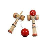 Hot sale! Children Educational Toy Funny Bahama Traditional Wood Game Skill Kendama Ball 16.5*6.5cm 200pcs Free shipping