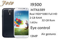 New Perfect S4 MTK6589 Quad-core 2GB Ram 1.6Ghz I9500 Phone Full HD 1920*1080 Amoled 32GB Rom 13MP camera smart mobile phone