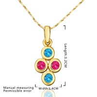 New Design 18K Gold Plated Necklace,Fashion Jewelry Necklace,18K Rhinestone Zircon Austrian Crystal Necklace SMTPN602