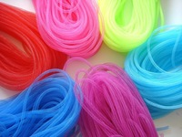4mm SKINNY TUBULAR CRIN NON METALLIC CYBERLOX 16 COLORS AVAILABLE