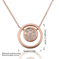 New Design 18K Gold Plated Necklace,Fashion Jewelry Necklace,18K Rhinestone Zircon Austrian Crystal Necklace SMTPN601