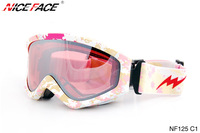 Free shipping wholesales/retail Winter anti-ultraviolet&fog skiing glasses/snow goggle Glasses
