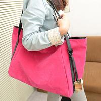 Fashion vintage 2013 brief nylon nubuck leather velvet women's large travel bags one shoulder handbag women's handbag