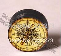 [Min. Order $20]Old compass Acrylic screw-fit ear plug  flesh tunnel body jewelry MJEPG3685